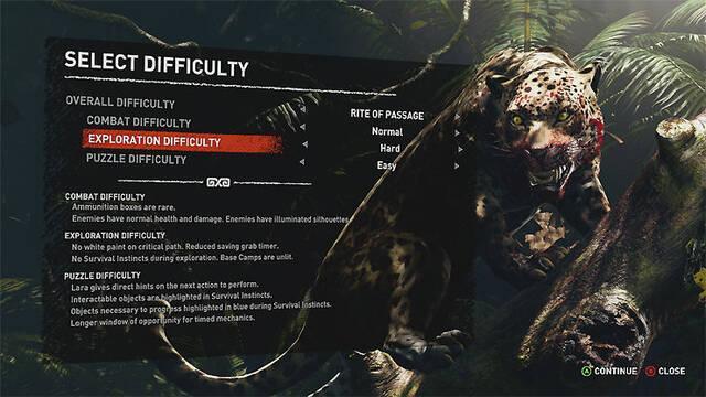 Shadow of the Tomb Raider permitirá elegir distintos parámetros en la dificultad