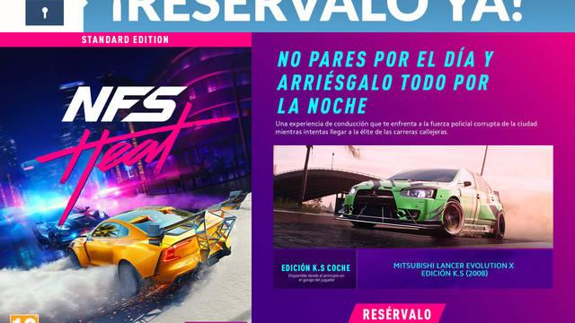 Game detalla sus incentivos por la reserva de Need for Speed Heat