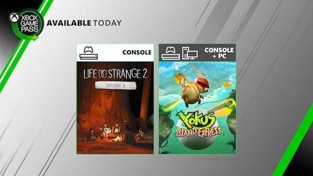 Xbox Game Pass: Life is Strange 2 - Episode 3 y Yoku Island's Express se suman al servicio