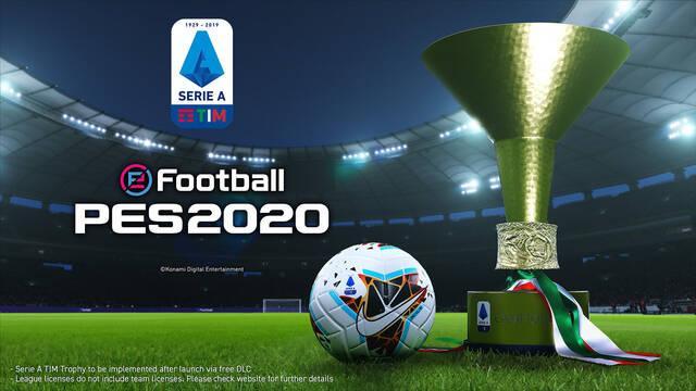 eFootball PES 2020 anuncia el acuerdo de licencia con la Serie A de Italia