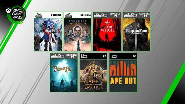 Xbox Game Pass: Devil May Cry 5, Stellaris, Age of Empires: DE y más llegan al servicio