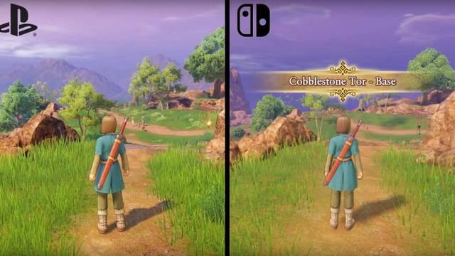 Comparan Dragon Quest XI de Nintendo Switch con la versión de PlayStation 4