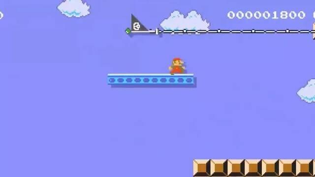 Super Mario Maker 2: Un jugador pone el Mundo 1-1 de lado
