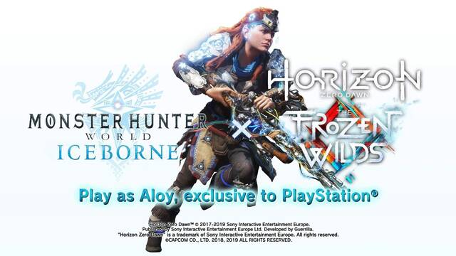Monster Hunter World: Iceborne y Horizon: Zero Dawn tendrán nueva colaboración