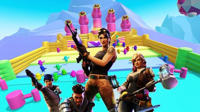 Crossover entre Fall Guys y Fortnite
