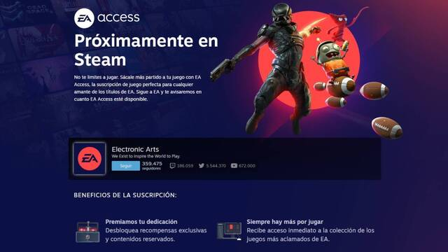 EA Acces ya dispone de página propia en Steam.