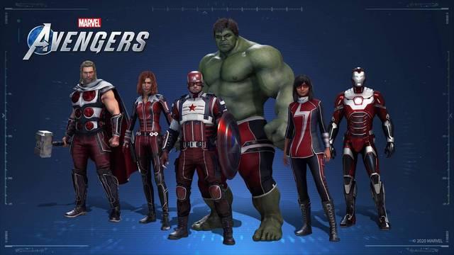 Filtrados atuendos con patrocinio para Marvel's Avengers.