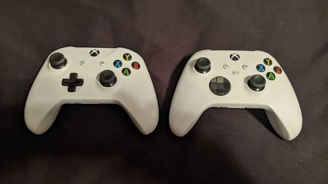 Comparativa entre el mando de Xbox Series X y el de Xbox One.