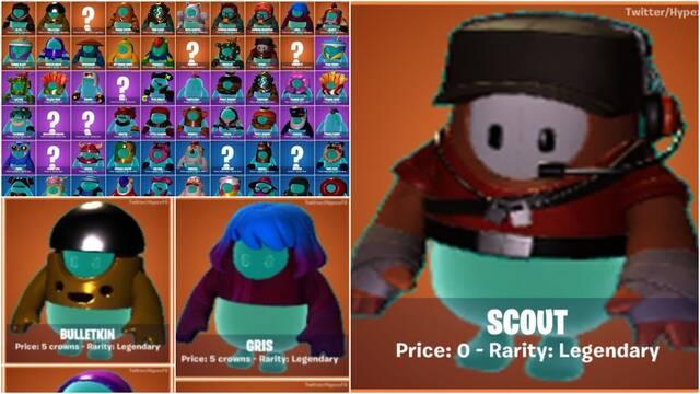 Filtraciones de Fall Guys con nuevos atuendos, modos y versiones de móvil.