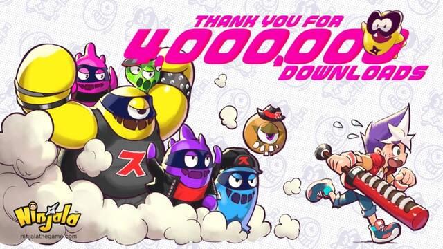 Ninjala alcanza los cuatro millones de descarga en Switch.