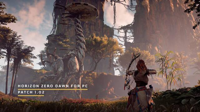 Horizon: Zero Dawn para PC, parche 1.02