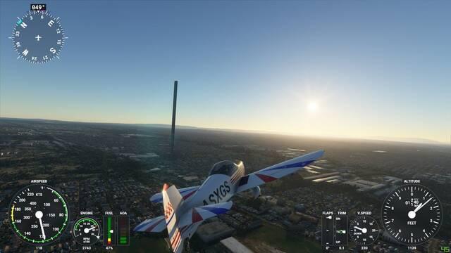 Microsoft Flight Simulator rascacielos
