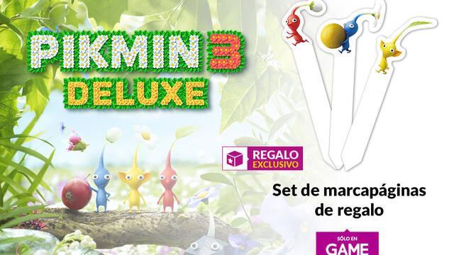 GAME regala tres marcapáginas por la resereva de Pikmin 3 Deluxe.