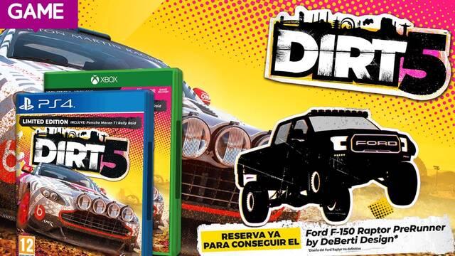 DiRT 5 desvela sus contenidos adiconales por reservar en GAME.