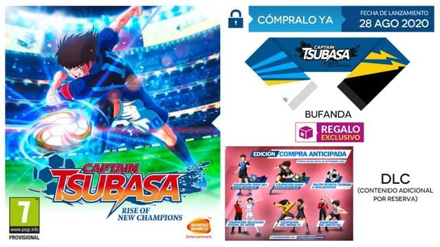 GAME presenta las ediciones y accesorios de Captain Tsubasa: Rise of New Champions.