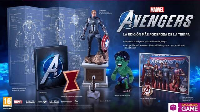 GAME presenta las ediciones y merchandising de Marvel's Avengers.