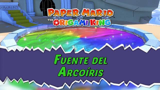 Fuente del Arcoíris al 100% en Paper Mario: The Origami King