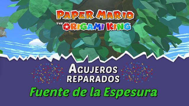 TODOS los agujeros en Fuente de la Espesura de Paper Mario The Origami King