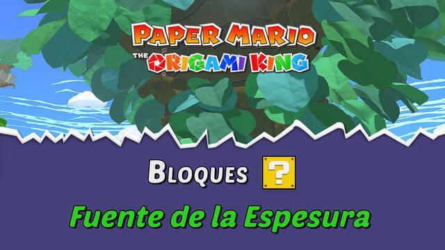 TODOS los bloques ? en Fuente de la Espesura de Paper Mario The Origami King