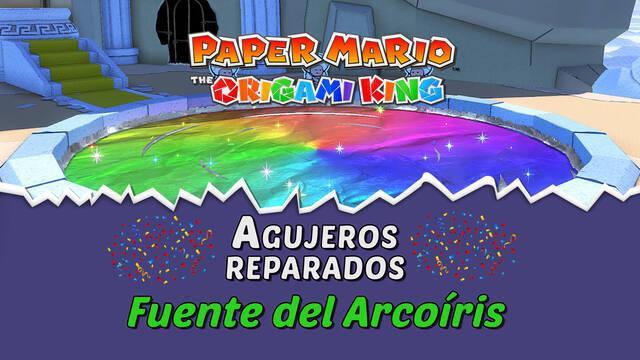 TODOS los agujeros en Fuente del Arcoíris de Paper Mario The Origami King