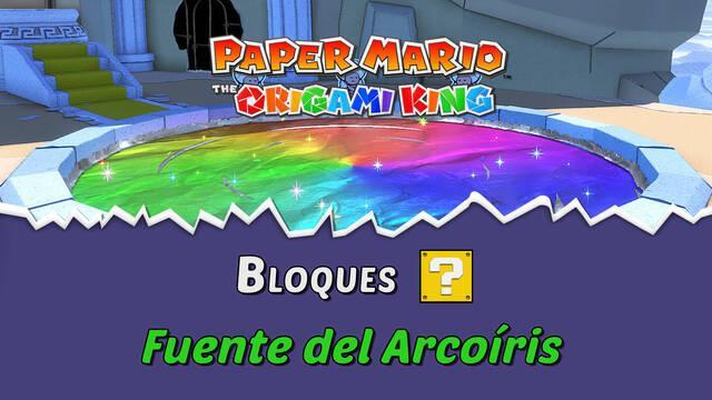 TODOS los bloques ? en Fuente del Arcoíris de Paper Mario The Origami King