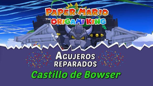 TODOS los agujeros en Castillo de Bowser de Paper Mario The Origami King