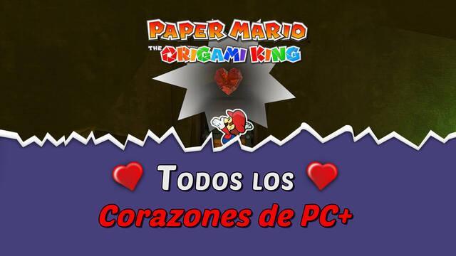 TODOS los Corazones de PC+ de Paper Mario: The Origami King y cómo conseguirlos