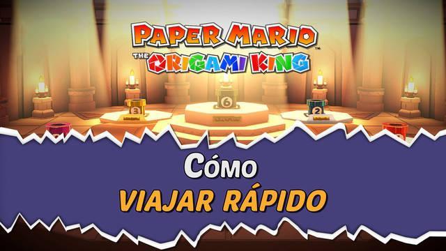 Viaje rápido en Paper Mario The Origami King: Localización de las 6 tuberías
