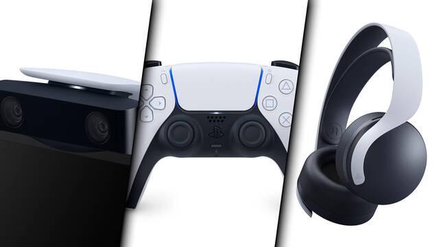 DualSense, cámara HD, auriculares PULSE 3D de PS5