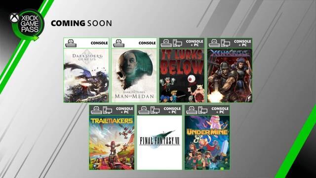 Nuevos juegos de agosto en Xbox Game Pass.