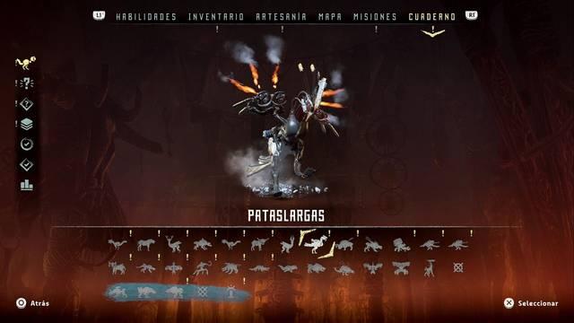 Pisoteador en Horizon: Zero Dawn - Puntos débiles y recompensas