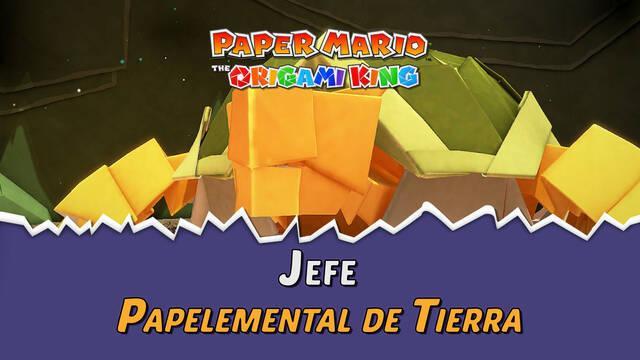 Papelemental de Tierra en Paper Mario The Origami King: Consejos y estrategias