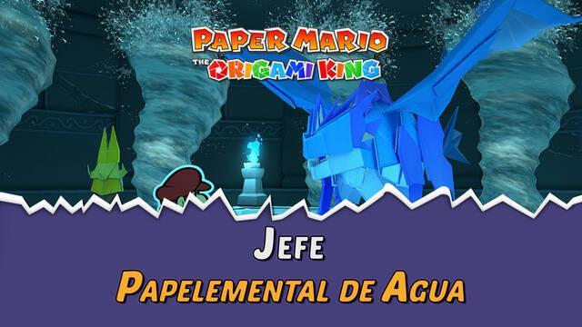 Papelemental de Agua en Paper Mario The Origami King: Consejos y estrategias