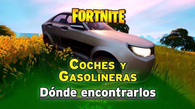 Fortnite - Dónde encontrar coches y gasolineras
