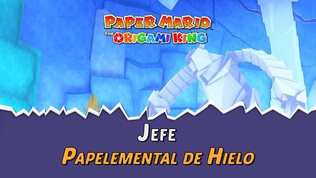 Papelemental de Hielo en Paper Mario The Origami King: Consejos y estrategias