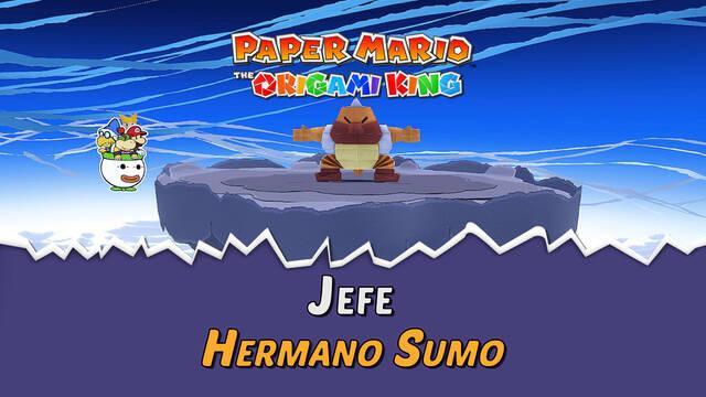 Hermano Sumo en Paper Mario The Origami King: Consejos y estrategias