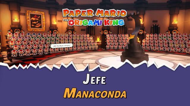 Manaconda en Paper Mario The Origami King: Consejos y estrategias