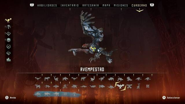 Avempestad en Horizon: Zero Dawn - Puntos débiles y recompensas