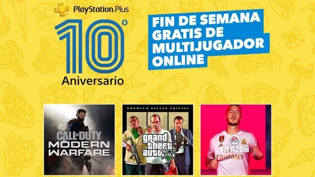 Fin de semana gratuito de PS Plus en PS4.