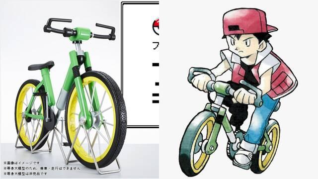 Crean una réplica oficial de la bicicleta de Pokémon Rojo y Azul.