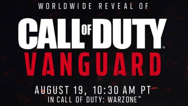Call of Duty: Vanguard se presentará oficialmente el 19 de agosto a través de Warzone