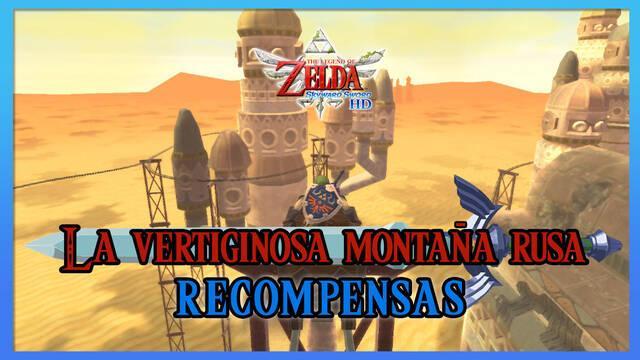 La vertiginosa montaña rusa en TLoZ: Skyward Sword HD: Todas las recompensas