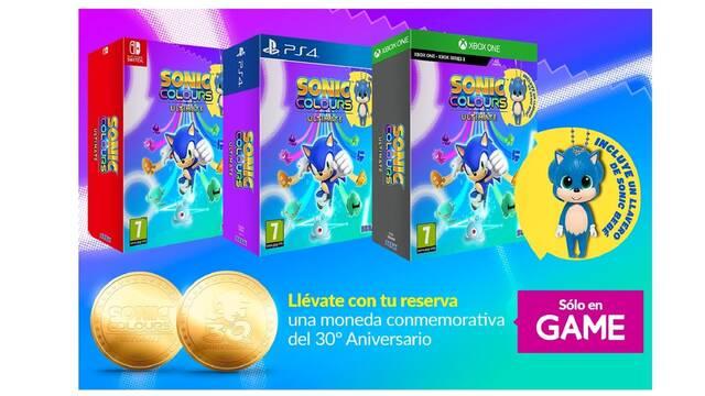 Sonic Colours: Ultimate y su reserva en GAME