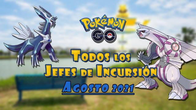 Pokémon GO jefes de incursión de agosto 2021