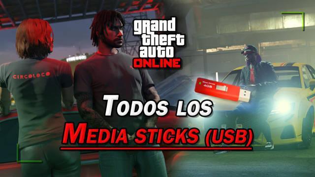 GTA Online: TODOS los Media sticks (USB multimedia) y cómo conseguirlos