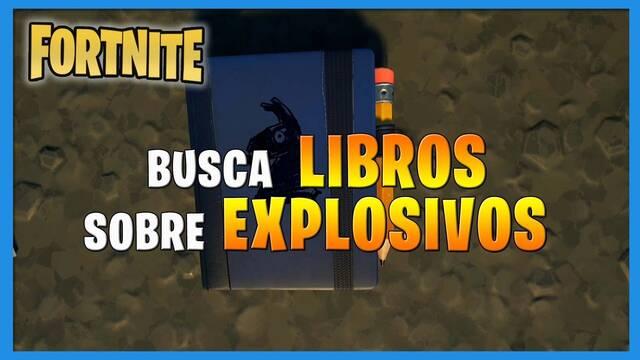 Fortnite: dónde encontrar libros sobre explosivos