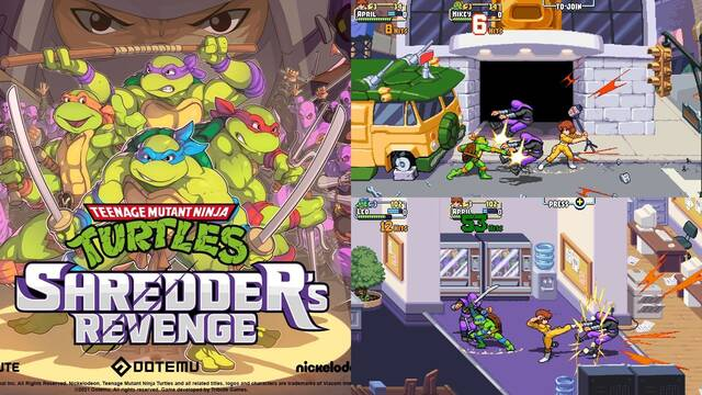 Teenage Mutant Ninja Turtles: Shredder's Revenge vídeo con April