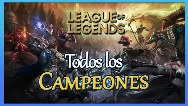 League of Legends: TODOS los personajes / campeones y habilidades