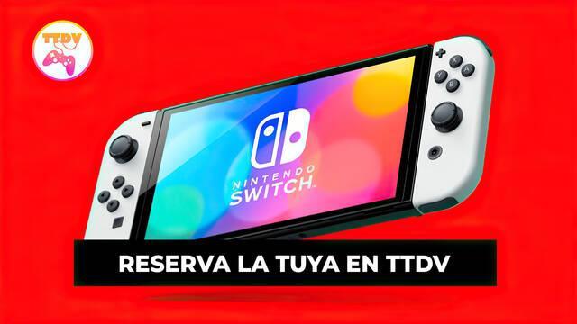 Nintendo Switch OLED con juegos o accesorios en TTDV