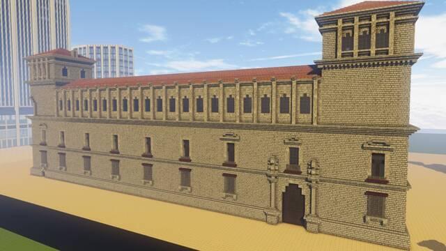Construyen monumentos en Minecraft para promocionar la España Vaciada
